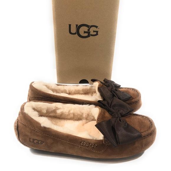 f1ed69420c4 Ugg Clara Glam Bow slipper moccasins sz 7, 8 new NWT